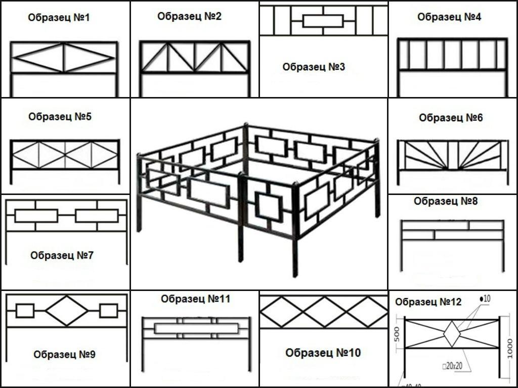 Оградки для могил рисунки