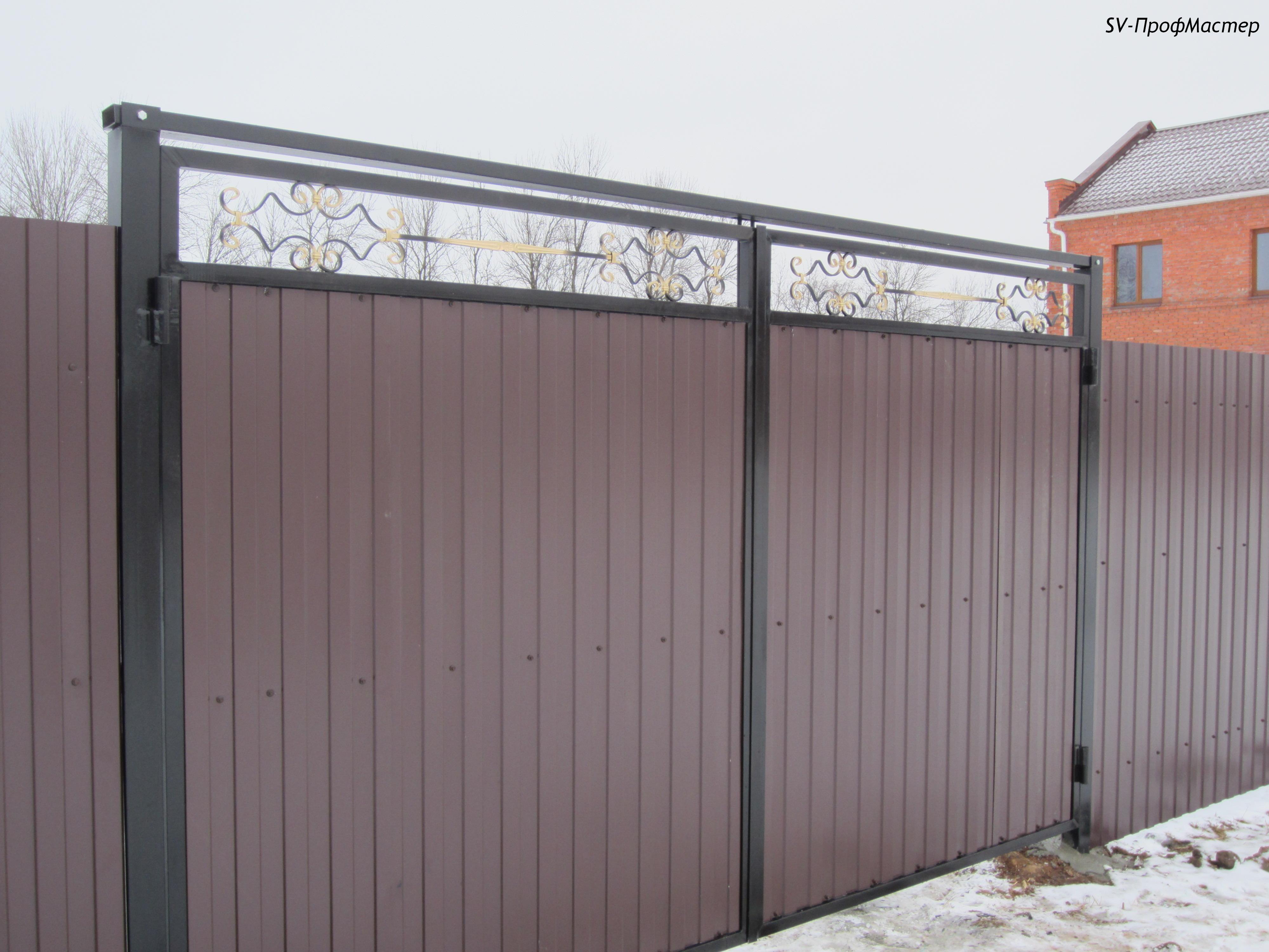 Калитки и ворота из профнастила цена в коломне ворота уличные красноярск