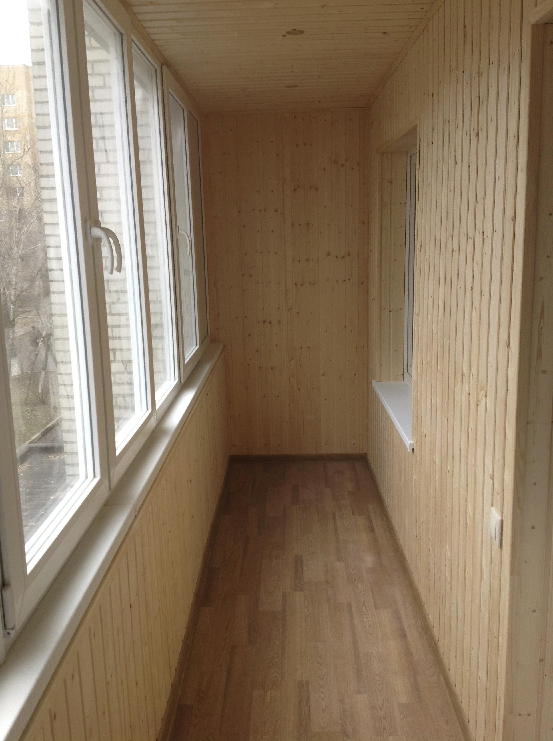 Железнодорожный: отделка балкона стены и потолок цена 0 р., .