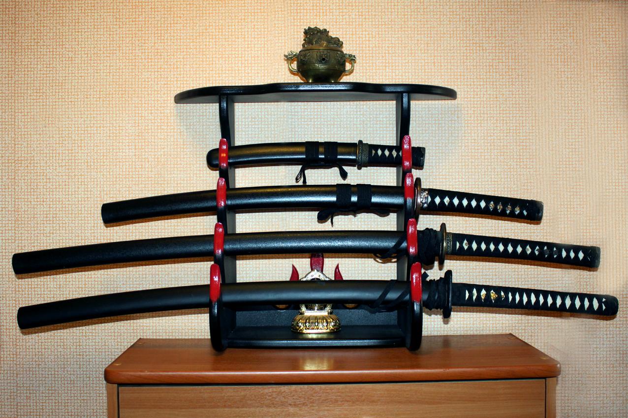 Подставка под самурайский меч сделать