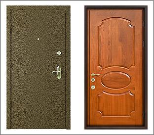металлическая дверь для дачи с порошковым напылением
