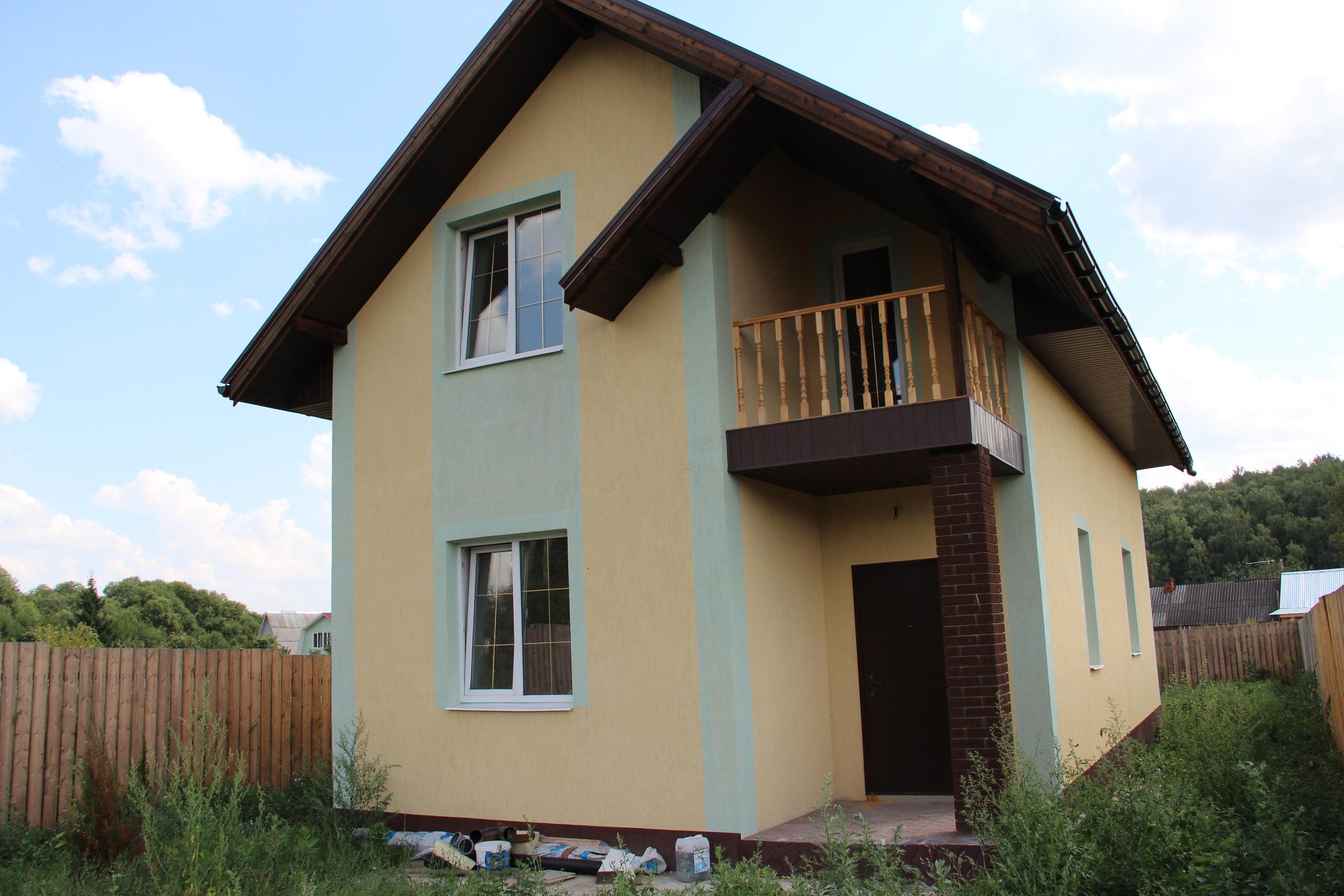 Продам дом 2-этажный дом 110 м2 (пеноблоки) на участке 6 сот 6 км до города новый двухэтажный дом в деревне чулпаново