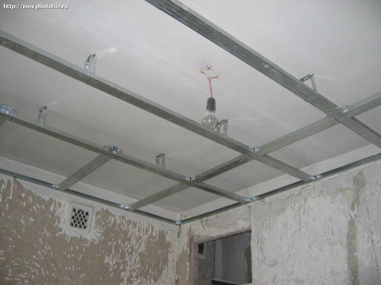 Подвесной потолок фото своими руками