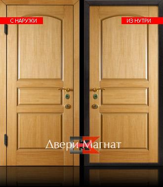 двери металлические с натуральным шпоном