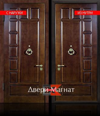 железная дверь с натуральным шпоном
